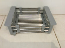 New Stainless Steel Extendable Basket Drainer Kitchen Sink 370 x 230mm