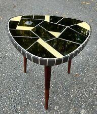 MID CENTURY  Mosaik Blumenhocker Vintage Tisch Rockabilly Nierentisch 50er 60er