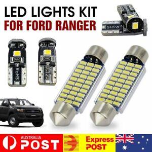 6Pcs For Ford Ranger PX1 PX2 PX3 Xenon White Led Interior Lights Upgrade Kit