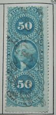 50 Cents - Blue -  Life Insurance - 1862-71 - Revenue Stamps