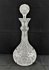 MAGNIFICENT American Brilliant ABP CLARK MERCEDES DECANTER CARAFE and STOPPER