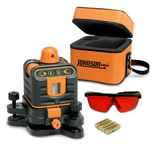 JOHNSON ROTARY LASER LEVEL , Int/Ext, Red,  CASE & TRIPOD 800 ft. # 40-6502