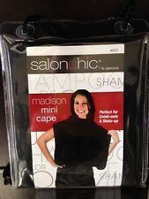 Salon Chic by Scalpmaster Madison Mini Cape Comb-outs/ make up cape Black #4057