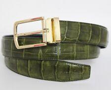 Green Genuine Alligator, CROCODILE Leather Skin Men's Belt