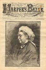 Royalty, Queen Victoria, Portrait, Vintage 1883 Antique Art Print