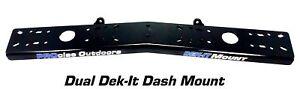 PROcise Outdoors Dek-it Dual Dash Fish Finder Mount, Boat Electronics Mounts