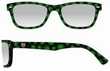 Lot of 6 Weed Pot Hemp Marijuana Cannabis Unisex Sunglasses-Full UV Retro NEW
