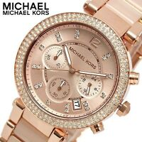 *NEW* MICHAEL KORS MK5896 LADIES' PARKER ROSE GOLD WATCH -  2 YEAR WARRANTY