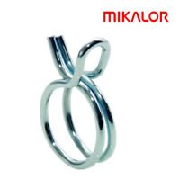 Black Kyuionty 50Pcs Spring Band Type Clips 1//4 Air Hose Tube Water Pipe Fuel Hose Line Silicone Vacuum Hose Clamp