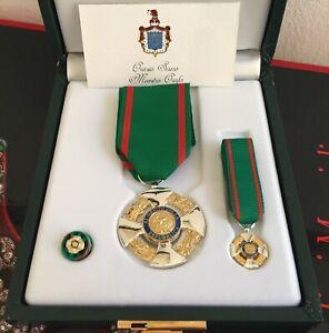 Set da Cavaliere Ordine al Merito della Repubblica Italiana in argento 925