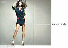 PUBLICITE ADVERTISING 066  2012  Lacoste (2p) robe rugby Vanessa Paradis