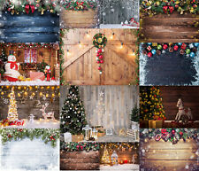 Winter Christmas Eve Backdrop Xmas Wood Board Glitter Snowflake Photo Background
