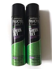Garnier Fructis Style 48h Sheer Set Ultra Strong Breathable Hold Hairspray x2