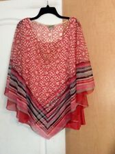 New One World - Multi ColoR Tan With Sheer Cover Women Top Size XXL(1X)