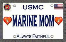 Marine Mom  - Magnetic Car Sign - 6in X 3.75in