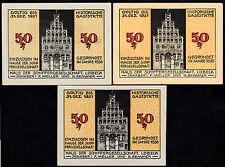 Lubecca-Casa della società Schiffer-con. serie, 3 biglietti (L 802)