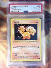 1999 Pokemon Game 68 Vulpix 1st Edition Shadowless PSA 10 Gem Mint Card