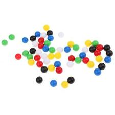 60 Pieces Plastic 1cm Balls for Wooden Connecting Four Balls in A Row Game