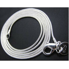 Promotion Price 10PCS 925Sterling Silver Snake Chains Necklace 1MM 20inch C008