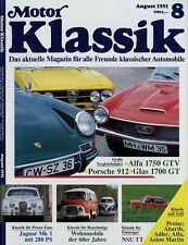 Motor Klassik 8/91 1991 Westfalia VW Bus Ford Transit FK1250 NSU TT Glas GT 1750