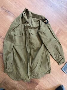 original late war ww2 101st airborne paratrooper field shirt infantry dated 1945