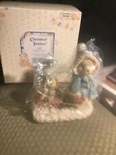 "Cherished Teddies ""Mary"" 912840. Pulling Sled Figurine.A Special Friend.1993Nib"