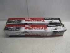 Lot of 2 HaulMaster 63327 8000lb Cable Winch Puller