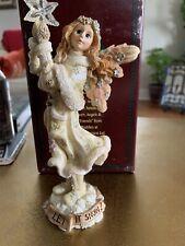 Euc Boyd's Resin Figurine Krystal Isinglass Angel Star Let It Snow