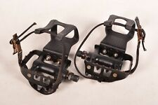 Shimano Deore LX Bicycle Pedals Shimano PD-M550 & Christophe Toe Clips & Straps