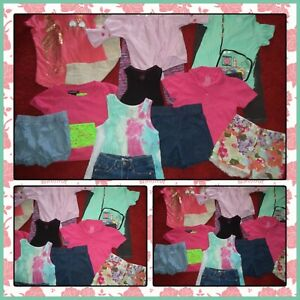 HUGE LOT~CLOTHES SHORTS TOPS JEANS SUMMER GYMBOREE OLD NAVY GIRLS SIZE 4-5 5T