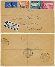GOLD COAST TAKORADI REGISTERED CDS CANCELS to SCOTLAND AIRMAIL 1955