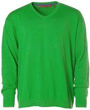K7270 Signum Herren Pullover Strick V-Ausschnitt Grün 3XL