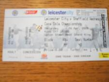 26/04/2008 Ticket: Leicester City v Sheffield Wednesday  . No obvious faults, un