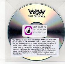 (DS713) War Of Words, Panic - DJ CD