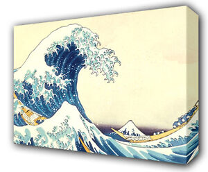 THE GREAT WAVE OF KANAGAWA - GICLEE CANVAS ART *Choose your size