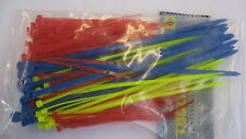 Cable Tie Set, small cable ties in red, yellow and blue 150 pieces zip ties