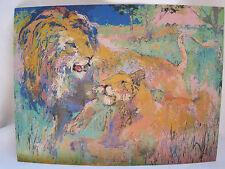 "LEROY NEIMAN 6"" X 7 1/2"" ART POSTCARD - ""LION COUPLE"""