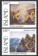 Islanda 1996 Arte Artisti Dipinti///Da Pesca/MARINAI/Barche 2 V Set (n34658)