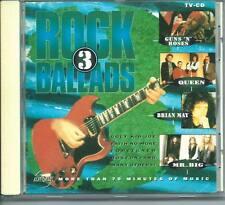 ROCK BALLADS 3 DUTCH CD QUEEN MR BIG GUNS ´N´ ROSES BOSTON ROBIN BECK KANSAS