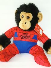Personalised Spiderman Teddy Bear Pageboy Ring Bearer Wedding Gift Favour