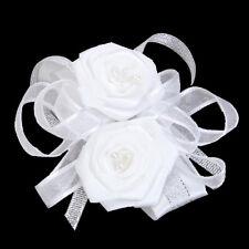 1×Wrist Corsage Flower Wedding Party Prom--White SC