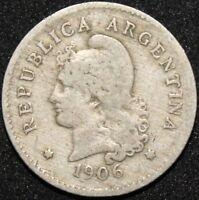 1906   Argentina 10 Centavos   Cupro-Nickel   Coins   KM Coins