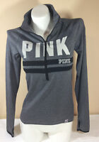 NWT VICTORIAS SECRET PINK ULTIMATE THUMB HOLE XS PULLOVER YOGA JACKET LOGO N2240