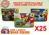 25x NINTENDO 64 N64 CIB GAME BOX - CLEAR PROTECTIVE BOX PROTECTOR SLEEVE CASE