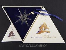 Swarovski Crystal 1995 ANNUAL STAR CHRISTMAS ORNAMENT SNOWFLAKE Mint Box COA
