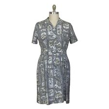 New listing Vintage 1950s Plus Size Novelty Print Waist 34 Inches