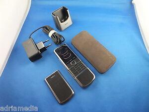 Nokia 8800 CARBON ARTE Titanium Phone LUXUS HANDY Made in Korea Ladestation Case