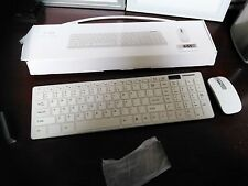 White 2.4g Wireless Keyboard Bundle (KEYBOARD AND MOUSE) ONE SET PACKAGE