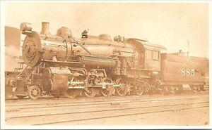 RPPC Kansas City KS A.T.&S.F. Railroad Locomotive 1921