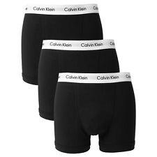 Calvin Klein da Uomo cotone Elasticizzato Confezione 3 Pantaloncini Mutande Nero XL